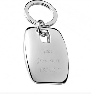 Executive Chunky Keyring - Engraved Groomsmen