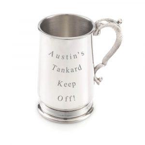 Engraved Jacobean tankard