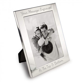 """6"""" x 4"""" Silver Plated Photo Frame"""