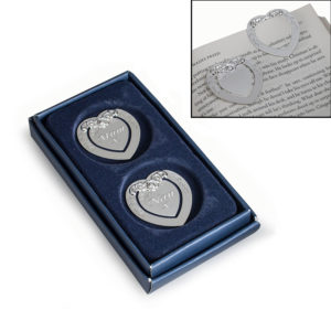 Set of 2 Heart Shaped Bookmarks