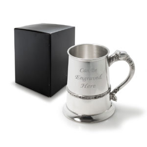 1 Pint Pewter Tankard with Celtic Band