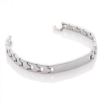 "Unisex Solid Stainless Steel Identity Bracelet 7.75"""