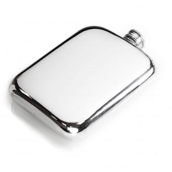 6oz Classic Design Sheffield Pewter Hip Flask