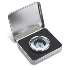 Chrome Compass in Gift Tin
