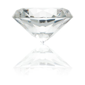 Large Glass Diamond Paperweight
