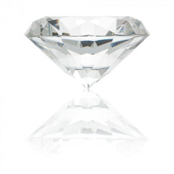 Large Glass Diamond Paperweight