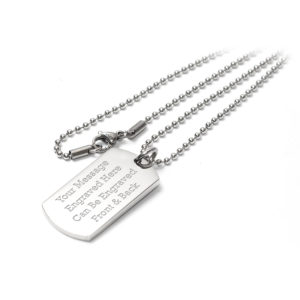Dog Tag Identity Pendant Necklace