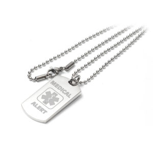 Medical Alert I-C-E Identity Pendant Necklace