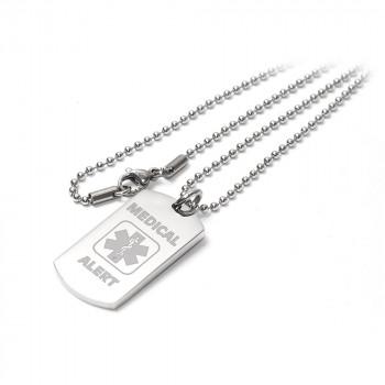 Medical Alert I-C-E Identity Pendant Necklace