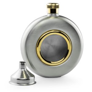 5oz Porthole With Brass Trim Hip Flask