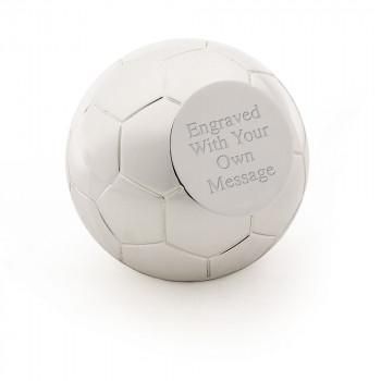 Football03 job 8753 350x350 - Football / Soccer Silver Plated Paperweight / Award
