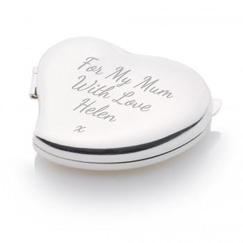 Hinged Love Heart Compact / Handbag Mirror