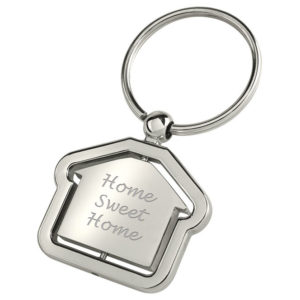 Spinning House Shaped Keyring