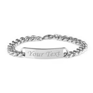 Men's Identity Curb Chain Bracelet