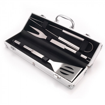 BBQ Barbecue Tool Set With Personalised Carry Case