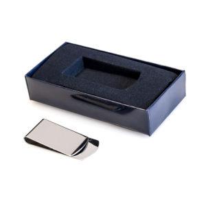 Silver Plated Money Clip (Blue Presentation Box)