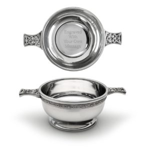 Classic Celtic Design Quaich Bowl