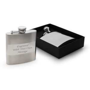 Polished Band Hip Flask