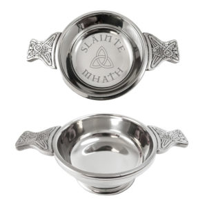 Slainte Mhath Design Scottish Quaich Bowl Celtic Knot