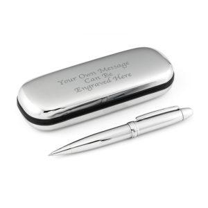 Silver Pen & Chrome Case