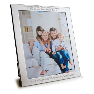 "10"" x 8"" Silver Plated Photo Frame"