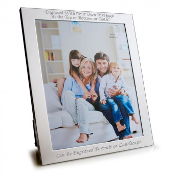 """10"""" x 8"""" Silver Plated Photo Frame"""