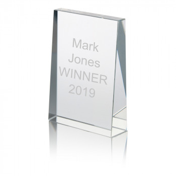 Glass Block Award / Trophy / Paperweight In Presentation Box
