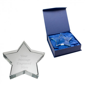 Glass Star Paperweight