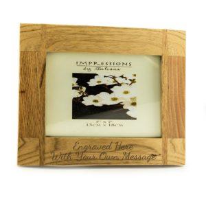 "7"" x 5"" Natural Wood Photo Frame"