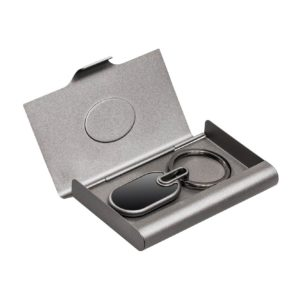 Business Card Holder and Keyring Set