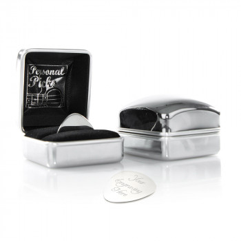 plectrum chrome case new complete 350x350 - Design your own engraved plectrum with chrome case (Can be engraved)