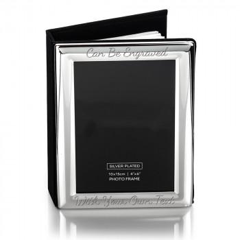 """Album Rounded Edge 2 350x350 - 6"""" x 4"""" Silver - 73 Photo Album / Frame"""