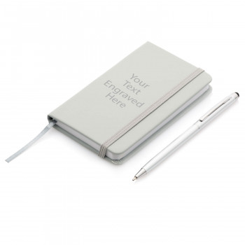 01 NotebookAndPen 1 350x350 - Personalised Notebook and Pen Gift Set