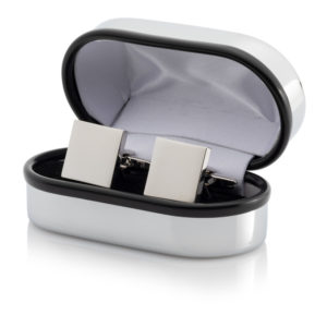 12 Cufflinks 300x300 - Silver Plated Square Cufflinks - Chrome Case