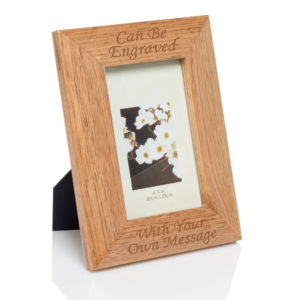 "4x6 oak wood frame 03 1 300x300 - Oak Finish 4""x6"" Wooden Photo Frame"