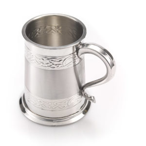 WentworthTankardCelticBands03 job 8790 300x300 - 1 Pint Pewter Tankard/Mug Embossed Celtic Design With Satin Finish Band