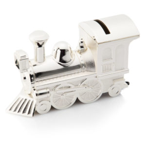 02 TrainMoneybox 300x300 - Silver Steam Engine/Train Money Box