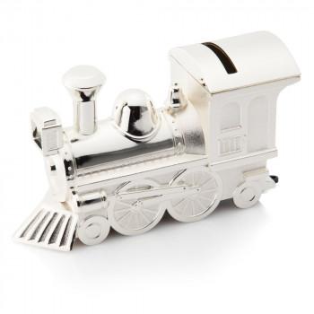 02 TrainMoneybox 350x350 - Silver Steam Engine/Train Money Box