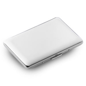 03 cigarette case gift box 300x300 - Cigarette Case/Holder Silver Finish in Presentation Box