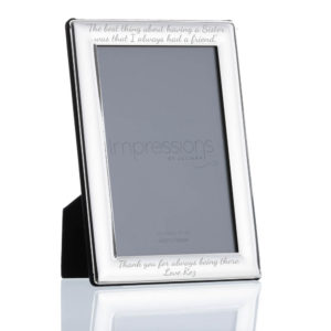 4x6 silver plated curved edge frame 03 1 300x300 - 4'' X 6'' Silver Plated Curved Edge Photo Frame