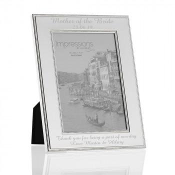 Beaded photo frame