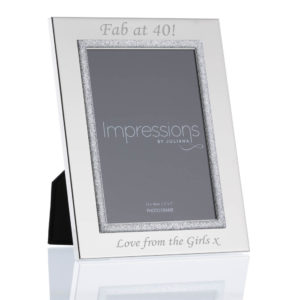 """5x7 silver plated glitter frame 03 1 300x300 - 5"""" x 7"""" Silver Plated Glitter Photo Frame"""
