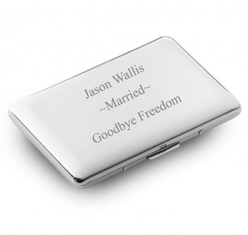 Cigarette Case Married Engraving