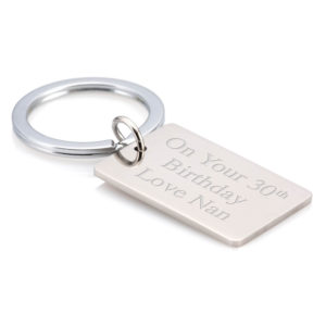 Keyring With Engraving Plate 01 1 300x300 - Solid Strong Stainless Steel Rectangular Keyring/Keychain