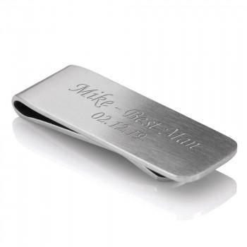 Satin Luxury Money Clip 01 1 350x350 - Luxurious Money Clip, Silver Satin Finish. With Gift Box