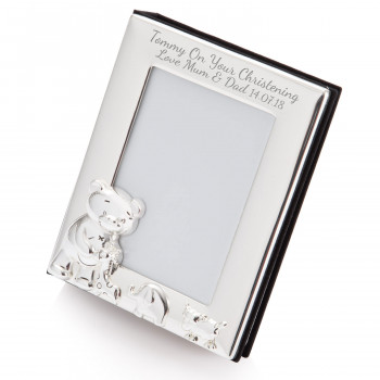 Silver Baby Teddy Bear Photo Album