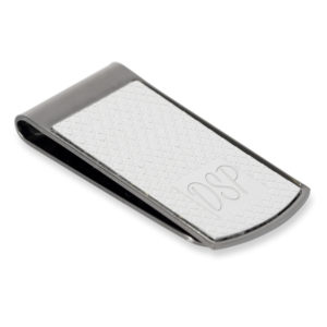 black chrome decorative money clip 03 1 300x300 - Black Chrome Money Clip with Engraving Panel