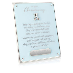 blue on your christening plaque 01 1 300x300 - On Your Christening Blue Plaque With Engraving Plate