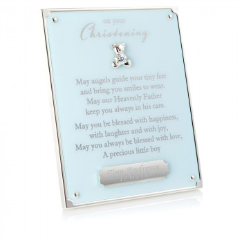 blue on your christening plaque 01 1 350x350 - On Your Christening Blue Plaque With Engraving Plate
