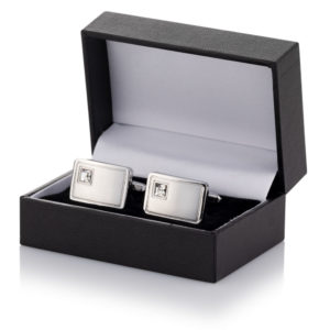 crystal cufflinks leatherette case 03 300x300 - Crystal Cufflinks Packaged in Leatherette Case